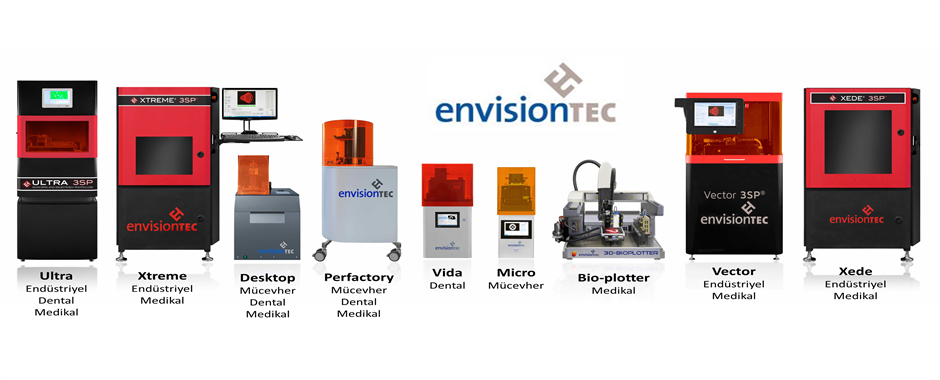 Envisiontec 3D Printer Line-up